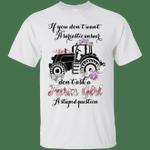 Don't Ask A Farm Girl A Stupid Question Funny Floral T-Shirt-Vivianstores