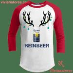Corona Light Reinbeer Raglan Sleeve Shirt Funny Beer Reindeer Xmas Gift-Vivianstores