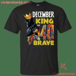 December Black Panther King Over 40th Birthday T-Shirt-Vivianstores