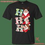 Ho ho ho Funny Christmas Grumpy Dwarf T-Shirt-Vivianstores