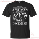 Never Underestimate A December Woman Who Listen To Eagles T-Shirt-Vivianstores