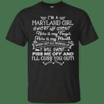 I'm A Maryland Girl Short And Stout T-Shirt-Vivianstores
