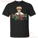 Stan Lee And Marvel Superheroes Gift T-Shirt-Vivianstores
