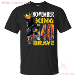 November Black Panther King Over 40th Birthday T-Shirt-Vivianstores