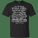 I'm An Iowa Girl Short And Stout T-Shirt-Vivianstores