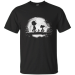 Snoopy and Charlie Brown Walking Under Moon Light T-Shirt-Vivianstores
