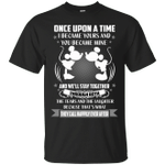 Valentine's Shirt Disney Mickey And Minnie Once Upon A Time T-Shirt-Vivianstores