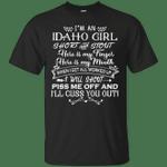 I'm An Idaho Girl Short And Stout T-Shirt-Vivianstores