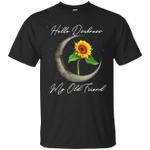 Sunflower and Moon Hello Darkness My Old Friend T-Shirt-Vivianstores