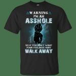 Songoku Warning I'm An Asshole T-Shirt-Vivianstores