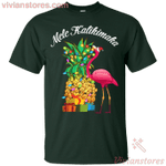 Mele Kalikimaka Pineapple Flamingo Halloween T-Shirt-Vivianstores