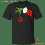 Funny Grinch Hand holding Dentist ornament Christmas T-Shirt-Vivianstores