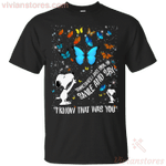 Snoopy I Know That Was You Butterfly T-Shirt Smile And Say-Vivianstores