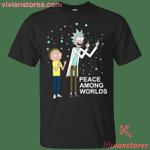 Rick & Morty Peace Among Worlds T-Shirt-Vivianstores