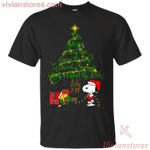 Snoopy And Woodstock Christmas Tree T-Shirt Gift Idea For Men Women-Vivianstores