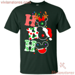 Ho ho ho Merry Christmas Disney Mickey T-Shirt-Vivianstores
