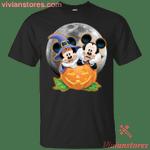 Mickey and Minnie pumpkin Halloween T-Shirt-Vivianstores