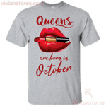 Queens Are Born In October T-Shirt-Vivianstores