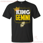Kings Are Born In Gemini Men Birthday T-Shirt-Vivianstores