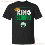 Kings Are Born In Scorpio Men Birthday T-Shirt-Vivianstores