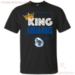Kings Are Born In Aquarius Men Birthday T-Shirt-Vivianstores