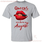 Queens Are Born In August T-Shirt-Vivianstores