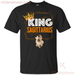 Kings Are Born In Sagittarius Men Birthday T-Shirt-Vivianstores