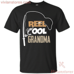 Reel Cool Grandma Fishing Present T-Shirt-Vivianstores