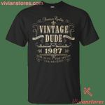 Vintage Since 1987 The Legend T-Shirt-Vivianstores
