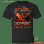 I Was Born In September Fire T-Shirt-Vivianstores
