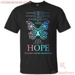 Hope Thyroid Cancer Butterfly T-Shirt-Vivianstores