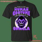 I'm Really A Gorilla Halloween Costume T-Shirt-Vivianstores