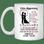 35th Wedding Anniversary Personalized Mug Always Remember The Day Mug VA03