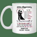 20th Wedding Anniversary Personalized Mug Always Remember The Day Mug VA03