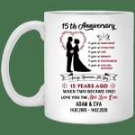 15th Wedding Anniversary Personalized Mug Always Remember The Day Mug VA03