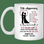5th Wedding Anniversary Personalized Mug Always Remember The Day Mug VA03