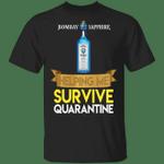 Bombay Sapphire Helping Me Survive Quarantine T-shirt HA04