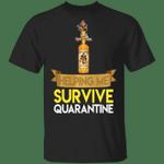 Captain Morgan Helping Me Survive Quarantine T-shirt HA04