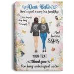 Dear Bestie Thank You For Being Unbiological Sister Personalized Canvas Poster VA03