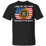 Land Of The Free Because Of The Brave US Coast Guard T-shirt VA02