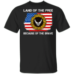 Land Of The Free Because Of The Brave US Air Force T-shirt VA02