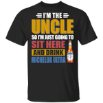 I'm The Uncle I Just Sit And Drink Michelob Ultra T-shirt Beer Tee VA02