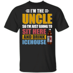 I'm The Uncle I Just Sit And Drink Icehouse T-shirt Beer Tee VA02
