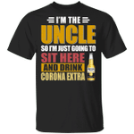 I'm The Uncle I Just Sit And Drink Corona Extra T-shirt Beer Tee VA02
