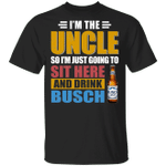 I'm The Uncle I Just Sit And Drink Busch T-shirt Beer Tee VA02