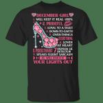 December Girl Will Keep it Real 100% T-shirt Birthday Tee MT04