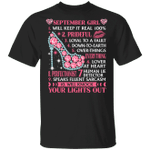 September Girl Will Keep it Real 100% T-shirt Birthday Tee MT04