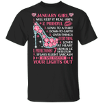 January Girl Will Keep it Real 100% T-shirt Birthday Tee MT04