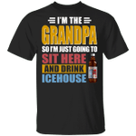 I'm The Grandpa Just Sit Here And Drink Icehouse T-shirt Beer Tee VA02