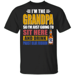 I'm The Grandpa Just Sit Here And Drink Pabst Blue Ribbon T-shirt Beer Tee VA02